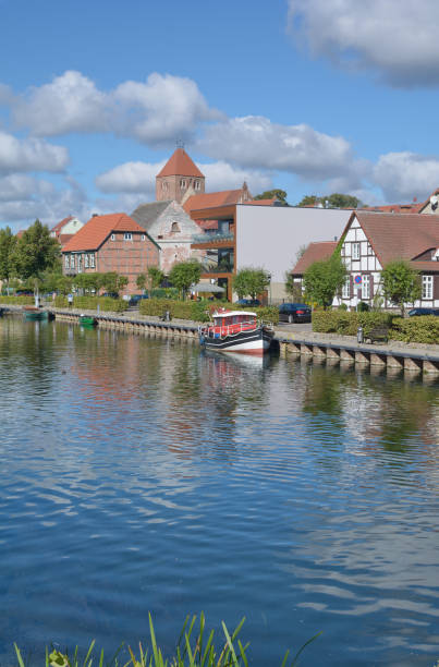 at Elde River in Plau am See,Mecklenburg Lake district,Germany – Foto