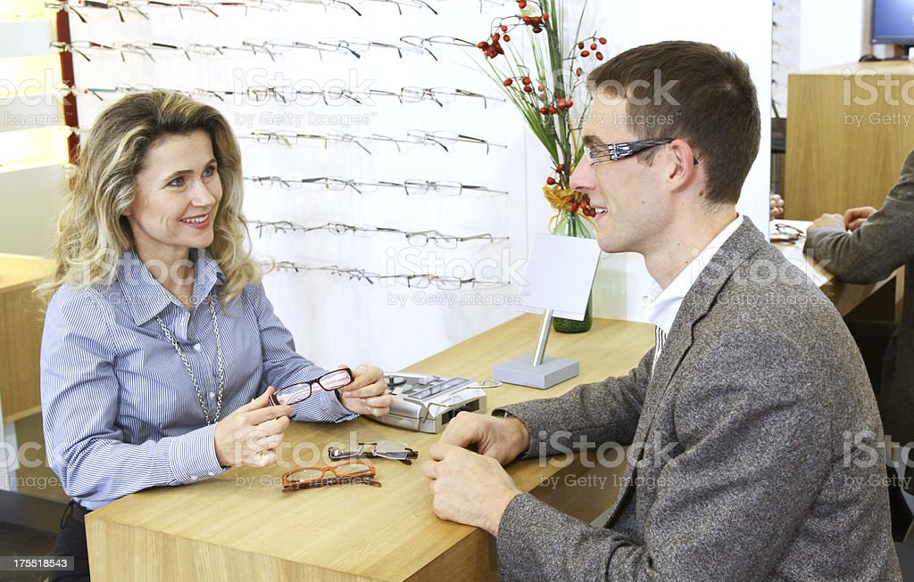 at eye glasses shop royalty-free stock photo