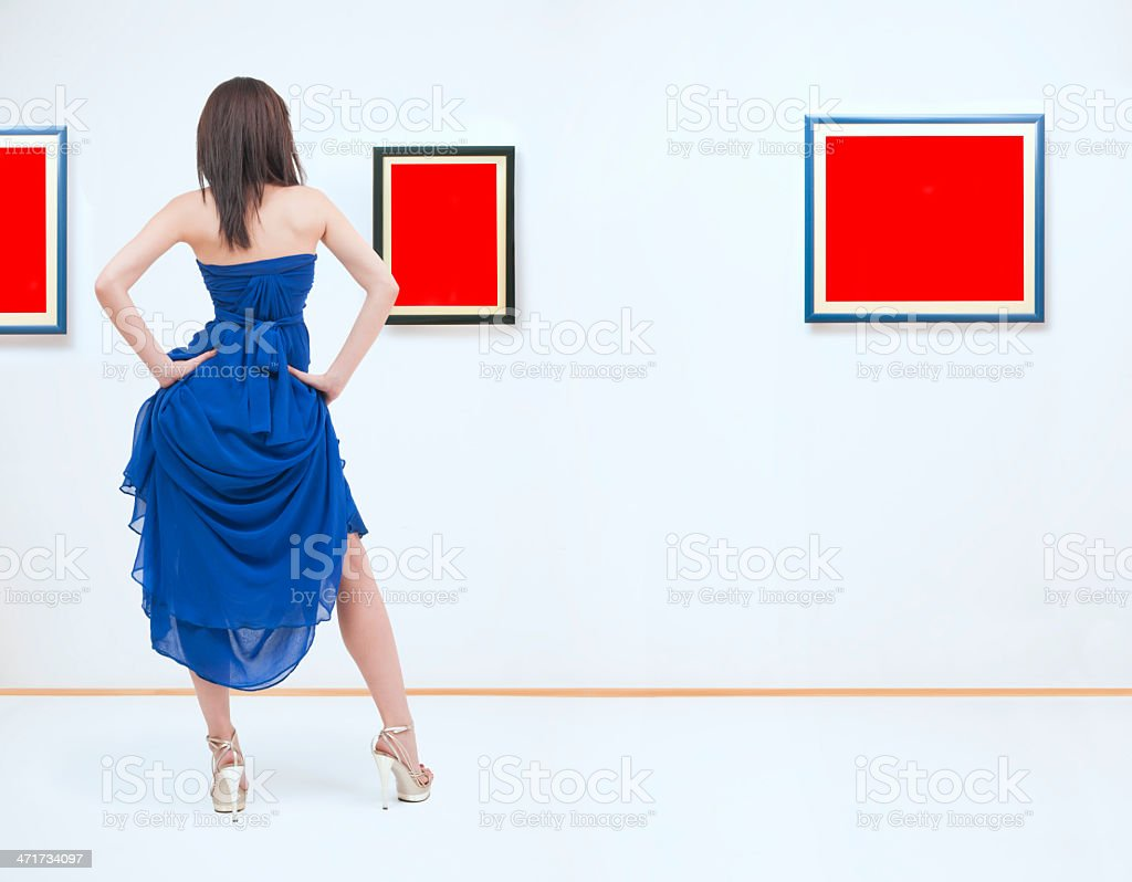At gallery stock photo