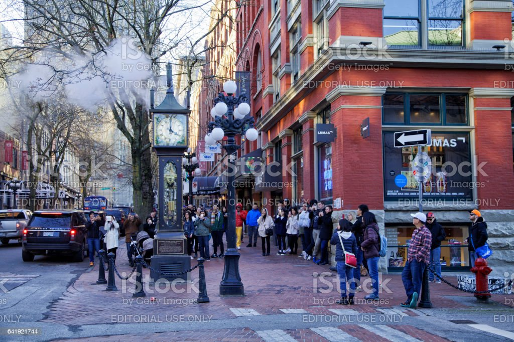 4 PM at Gastown,Vancouver,Canada stock photo