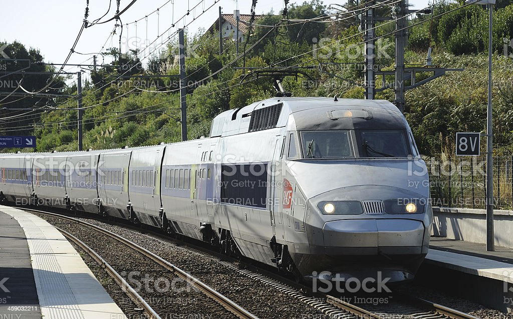 TGV at Guethary royalty-free stock photo