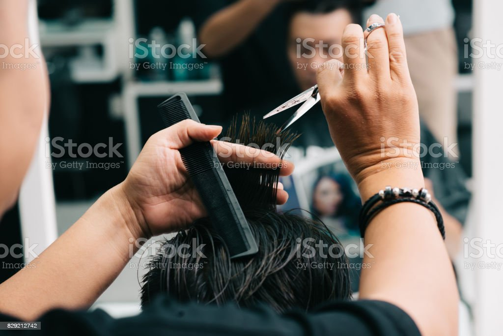 At hair stylist stock photo