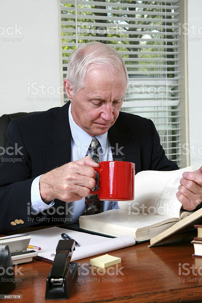 CEO at his desk royalty-free stock photo