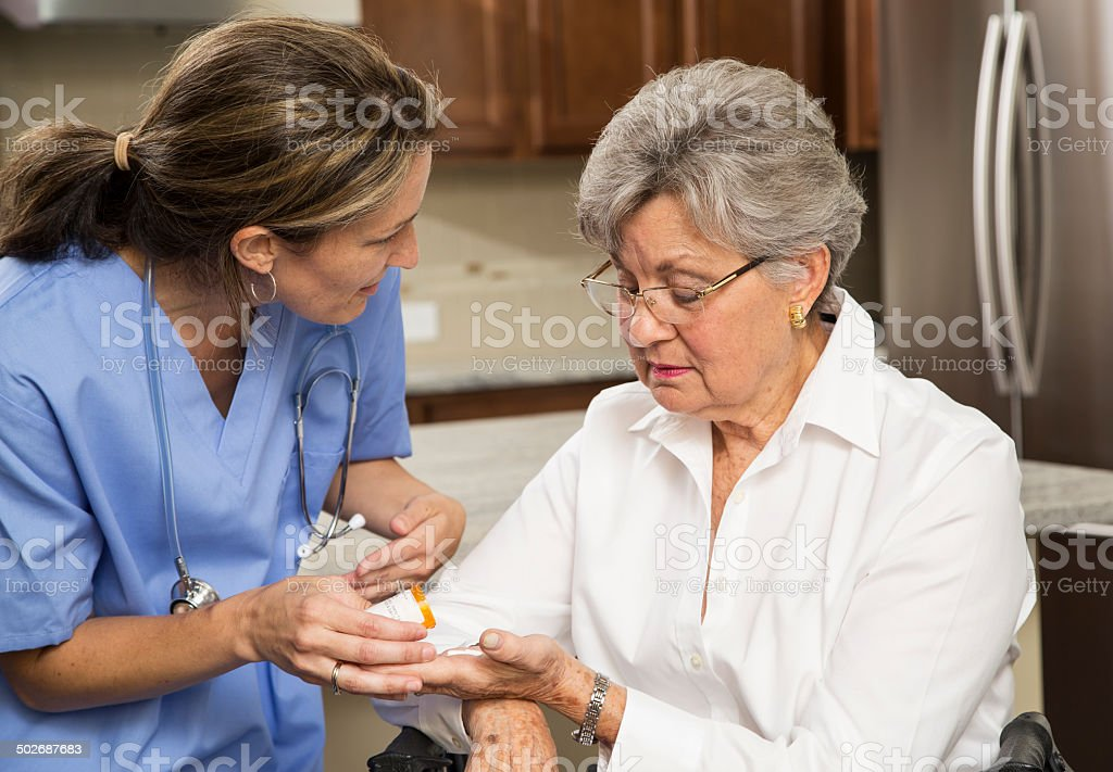 At home nurse stock photo