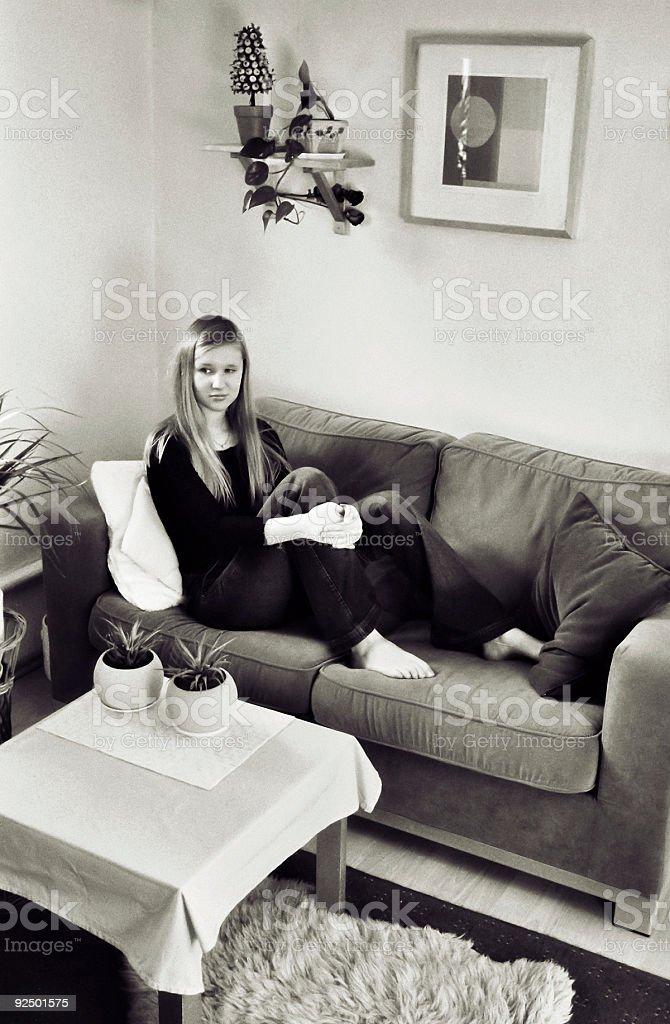 At home royalty-free stock photo