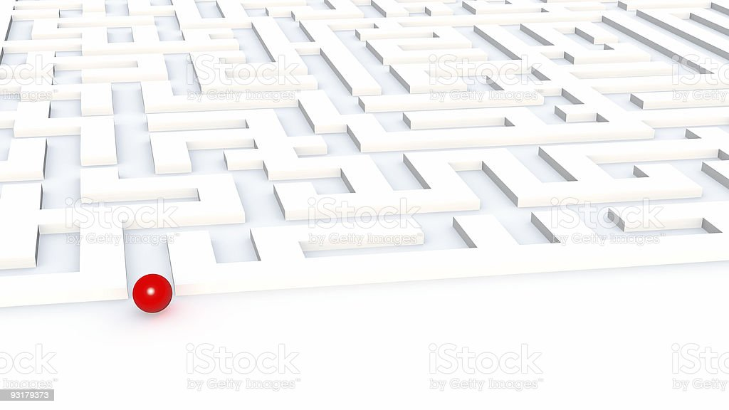 at input in a labyrinth royalty-free stock photo