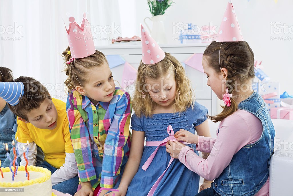 At kids birthday party royalty-free stock photo