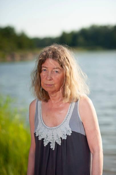 at lakeside stock photo