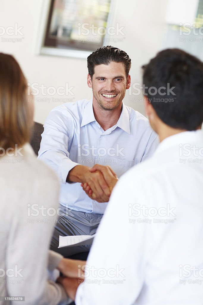 At last a budget they all agree upon! royalty-free stock photo