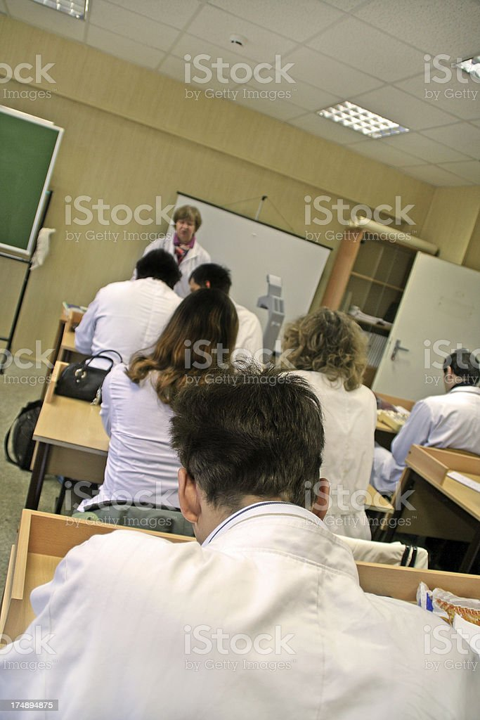 At lecture royalty-free stock photo