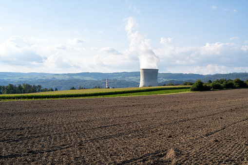 At Leibstadt nuclear power plans in Switzerland