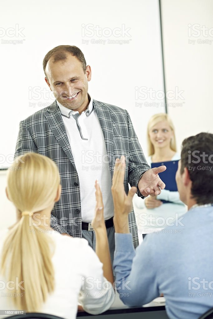 At lesson royalty-free stock photo