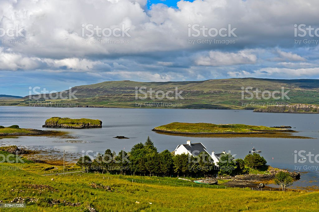 At Loch Dunvegan stock photo