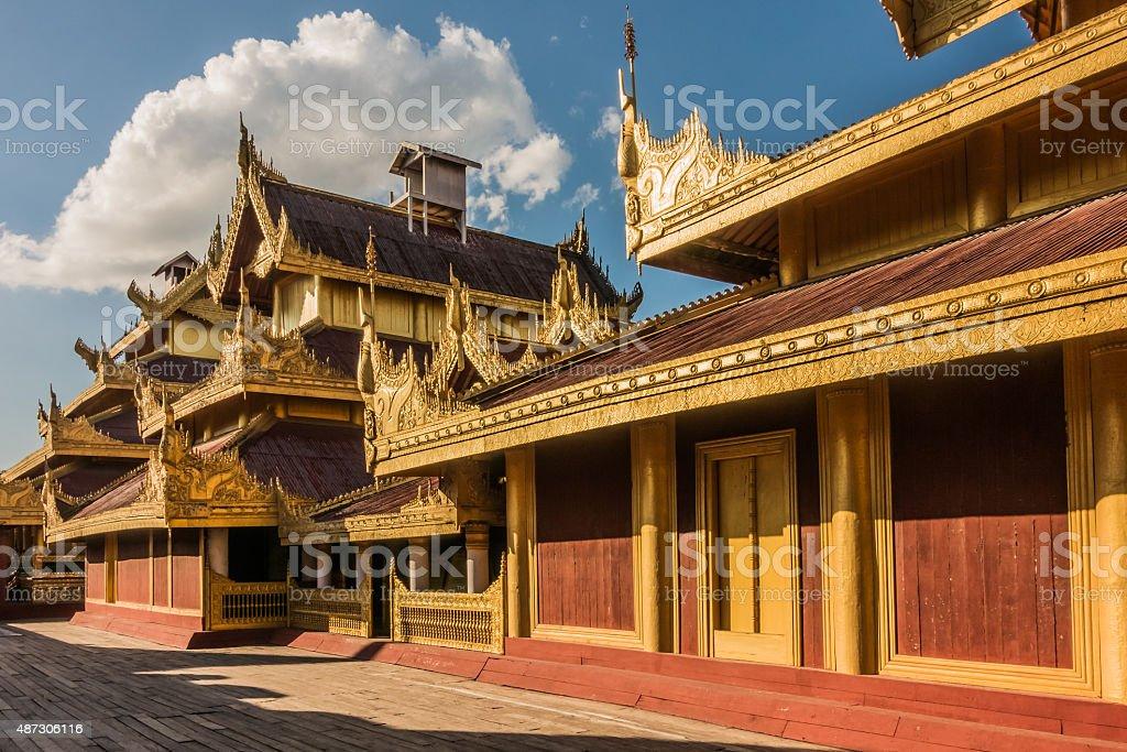At Mandalay Palace stock photo