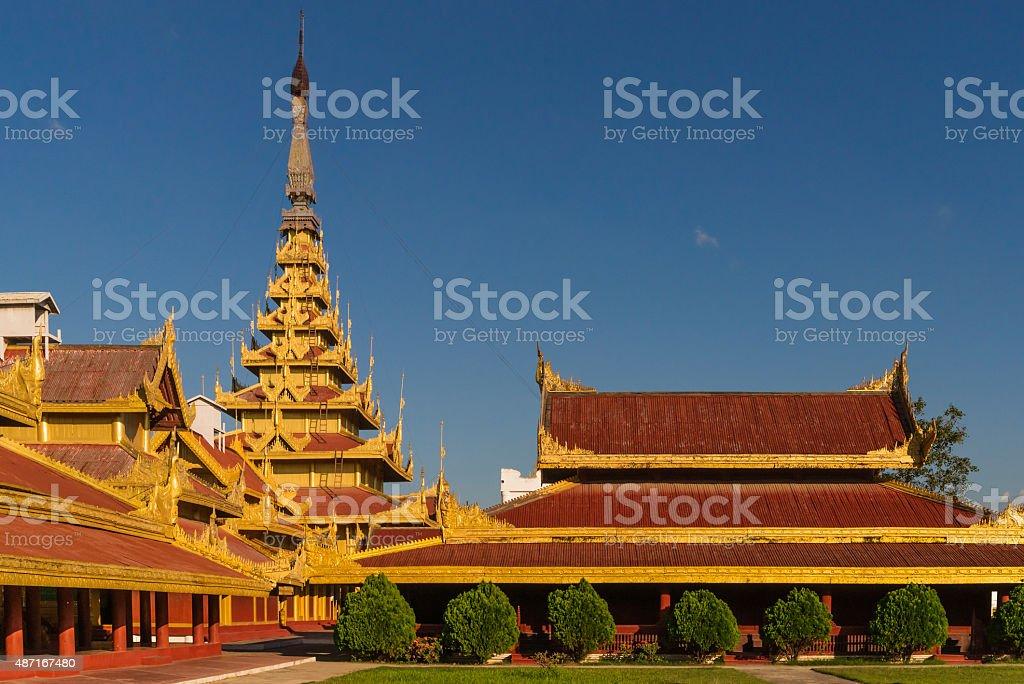 At Mandalay Royal Palace stock photo