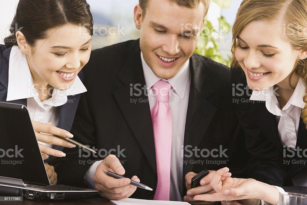 At meeting royalty-free stock photo
