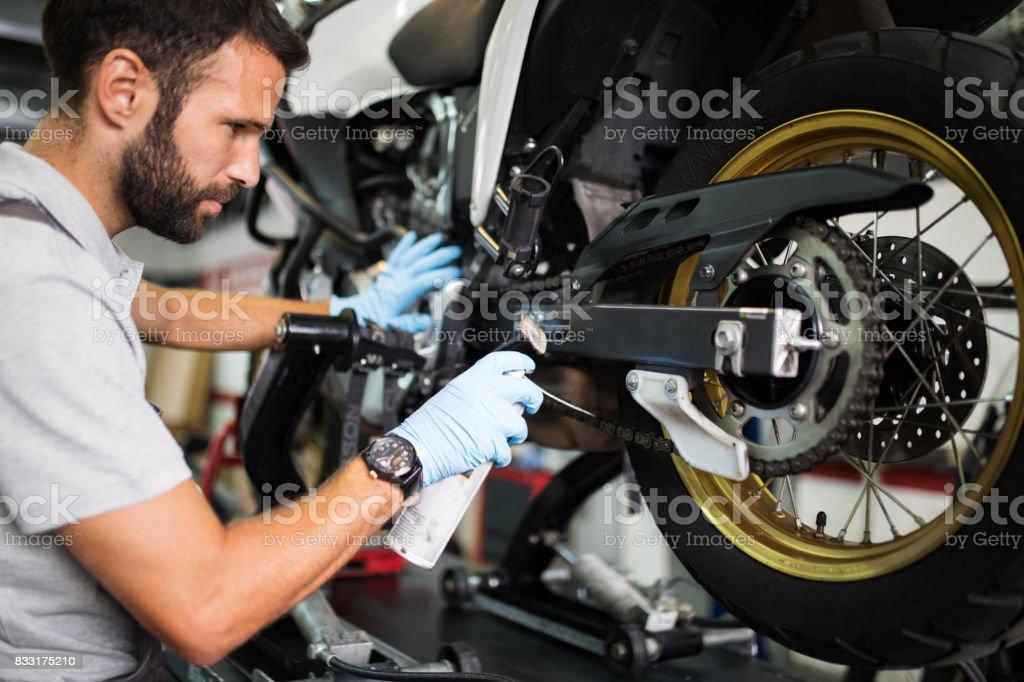 Am Motorrad nette Lizenzfreies stock-foto