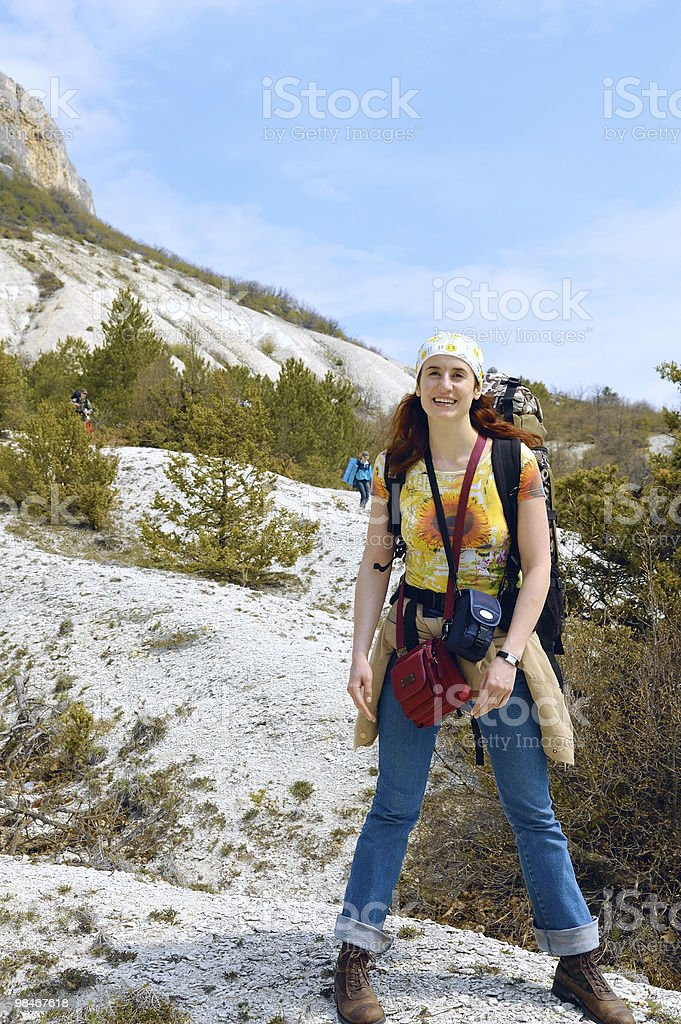 At mountain foot royalty-free stock photo