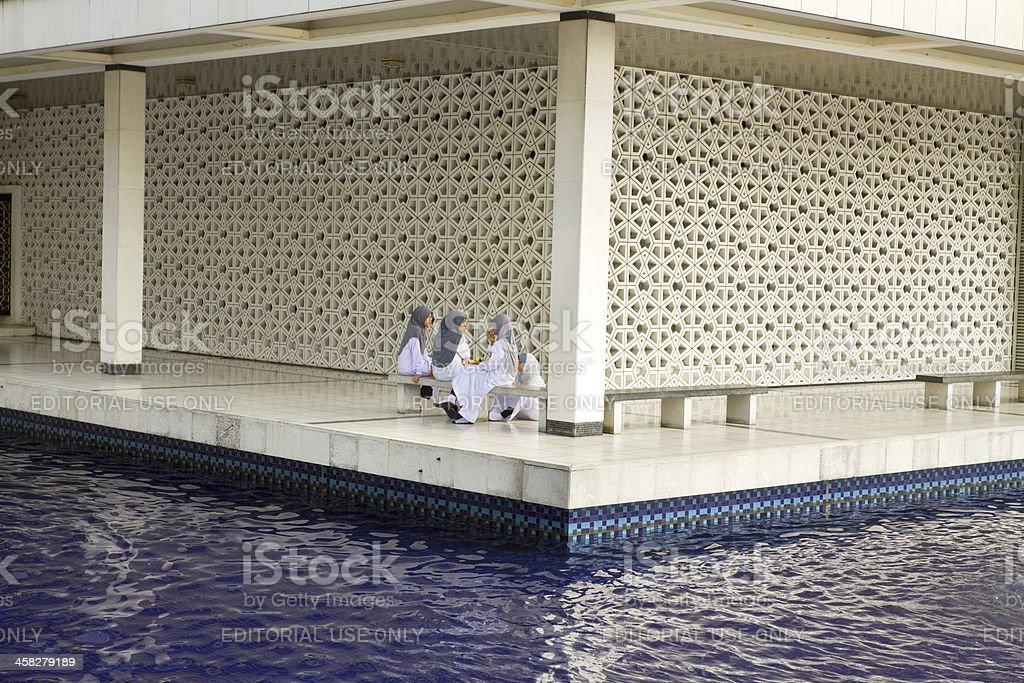 At national mosque Masjid Negara royalty-free stock photo