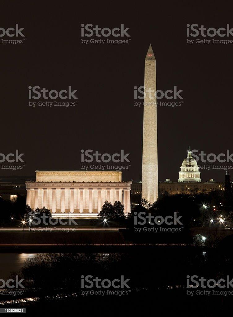 DC at Night stock photo