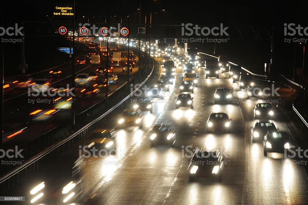 M6 At Night stock photo
