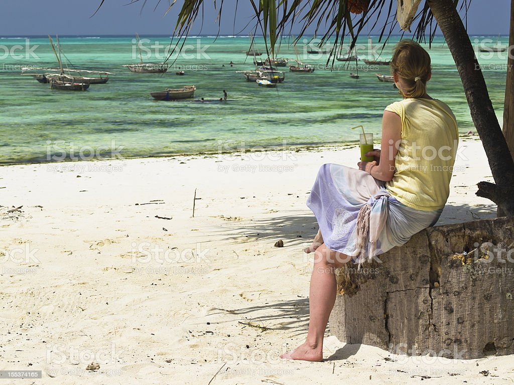 At Nungwi royalty-free stock photo