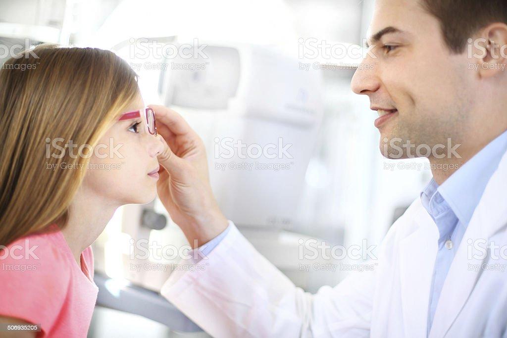 At optician. royalty-free stock photo