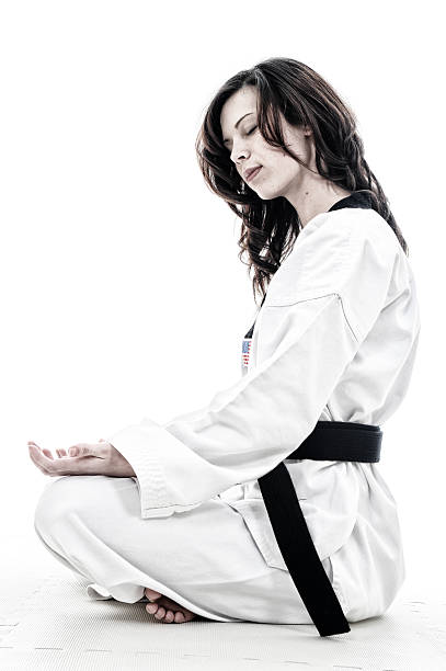 at peace - martial arts gerville stock photos and pictures
