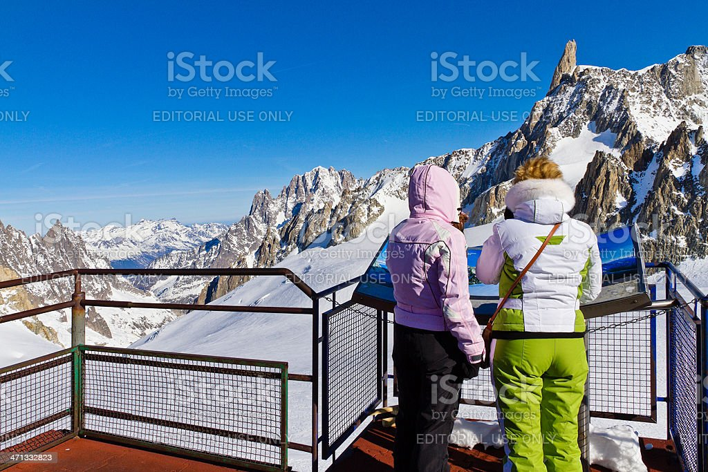 At Pointe Helbronner Station, Mont Blanc Massif stock photo