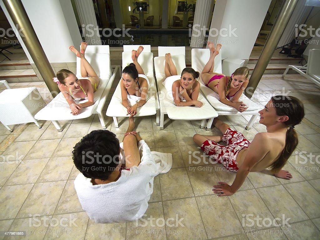 At pool royalty-free stock photo
