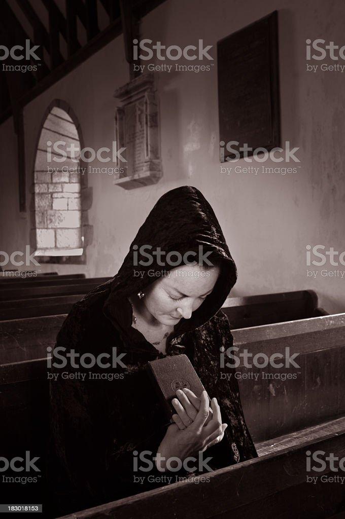 At Prayer royalty-free stock photo