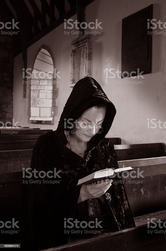 At Prayer royalty-free stock photo