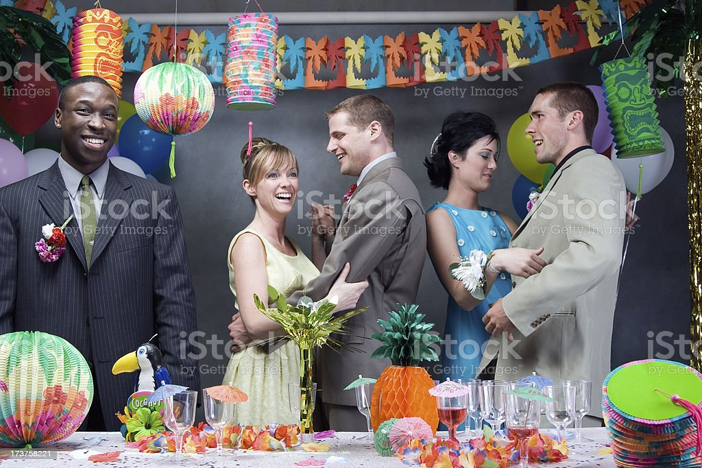 At prom stock photo