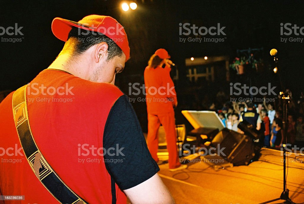 At rock concert royalty-free stock photo