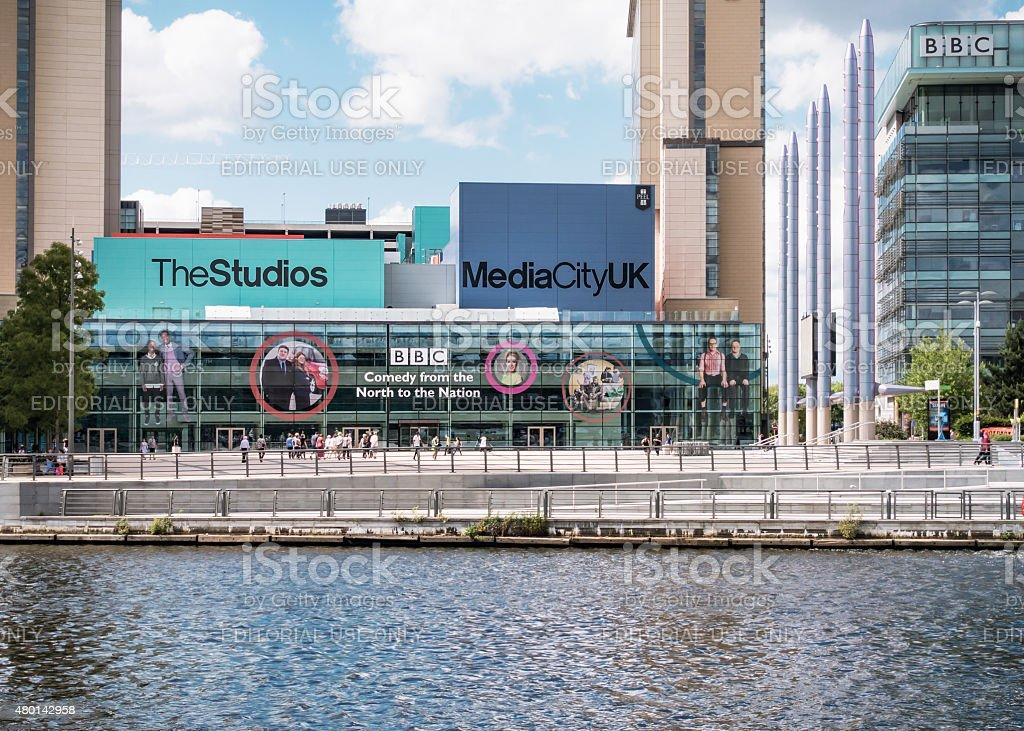 BBC at Salford Quays stock photo