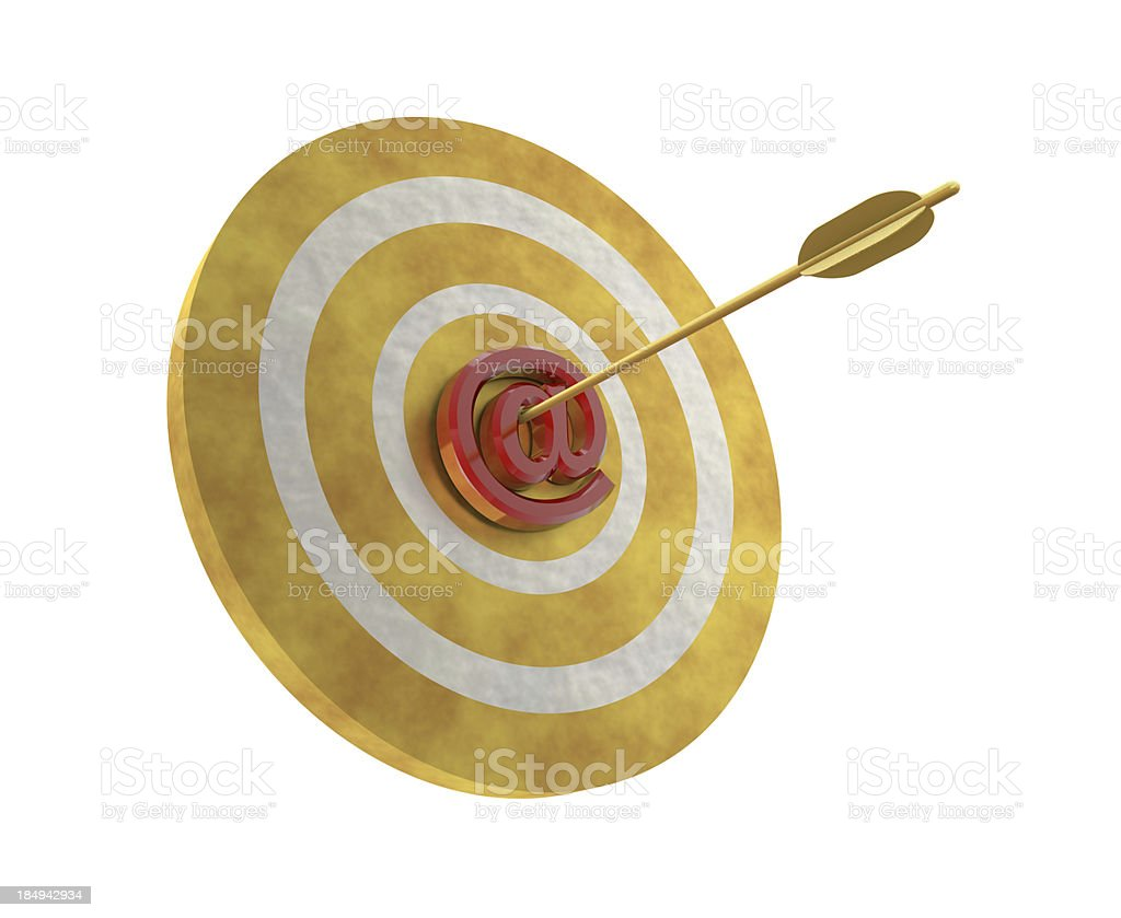 At Sign on Target royalty-free stock photo