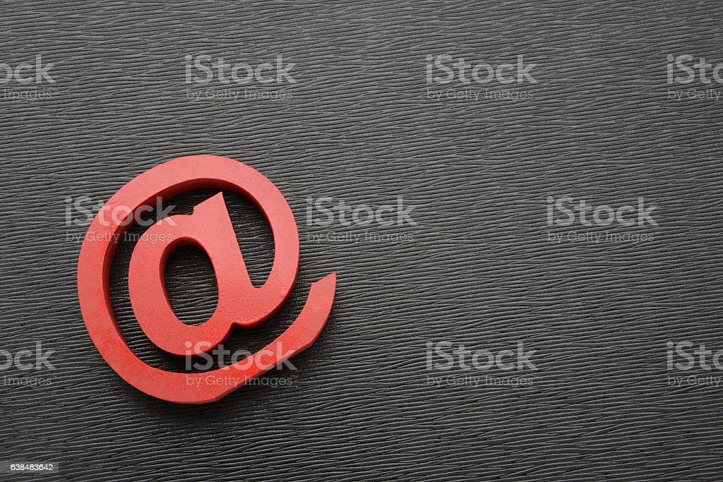 at sign stock photo