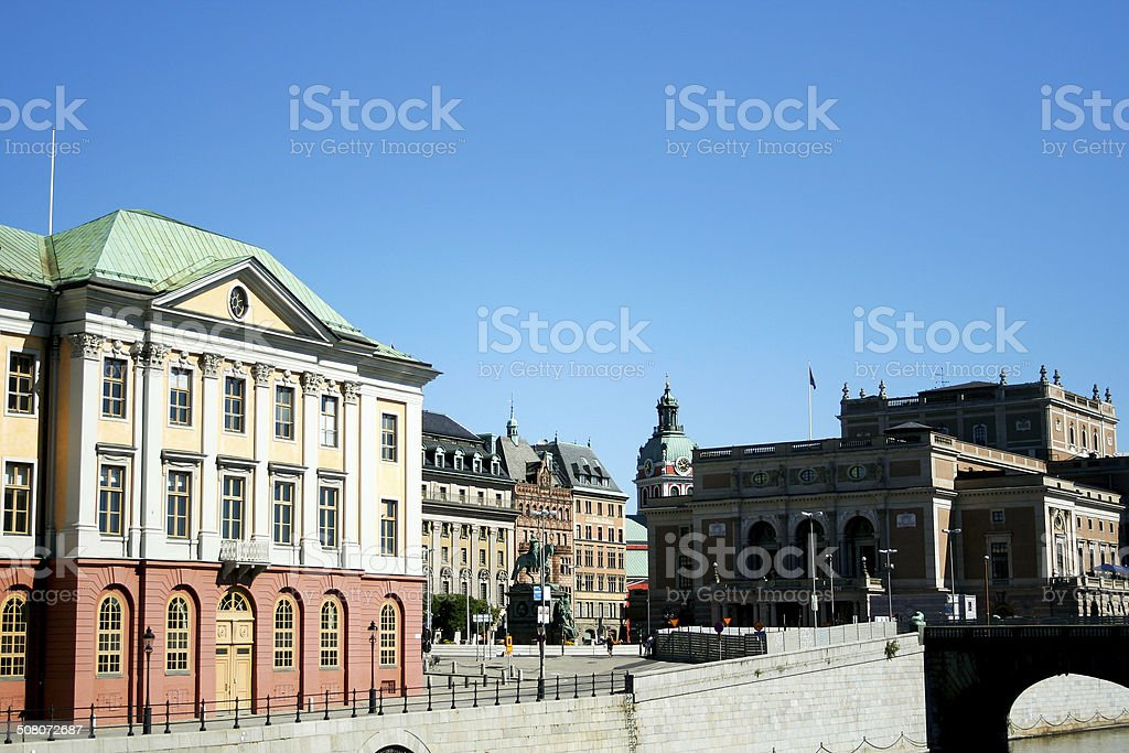 At Strömgatan in Stockholm stock photo