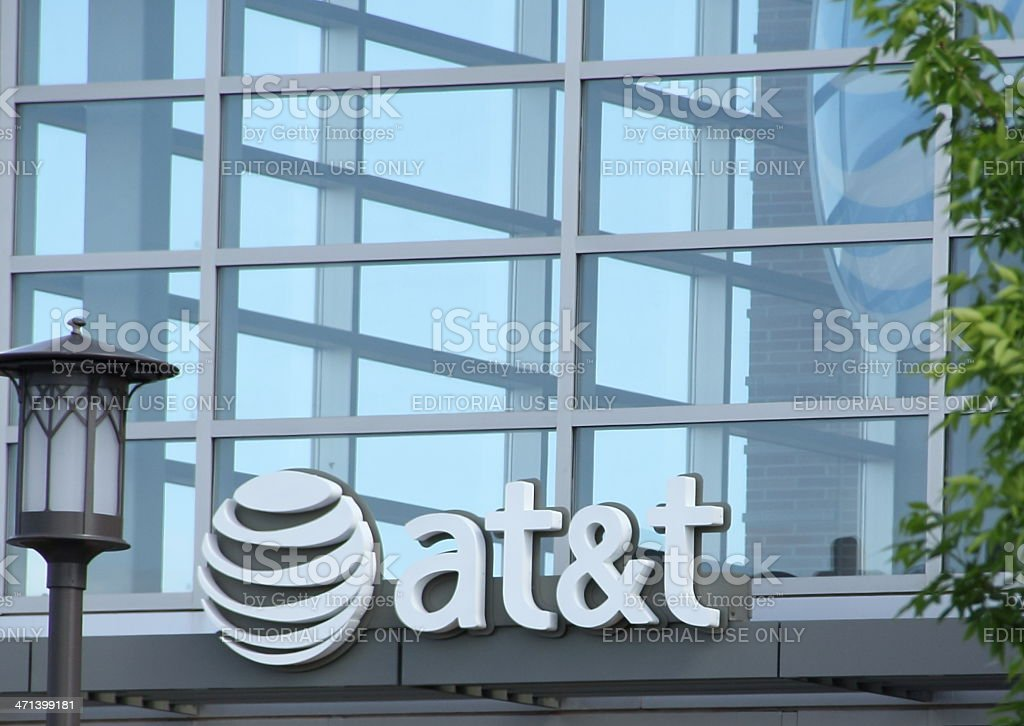 at & t Sign stock photo