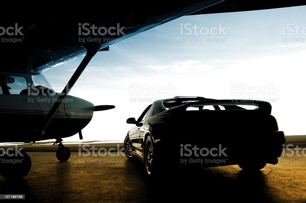 At the Airstrip royalty-free stock photo