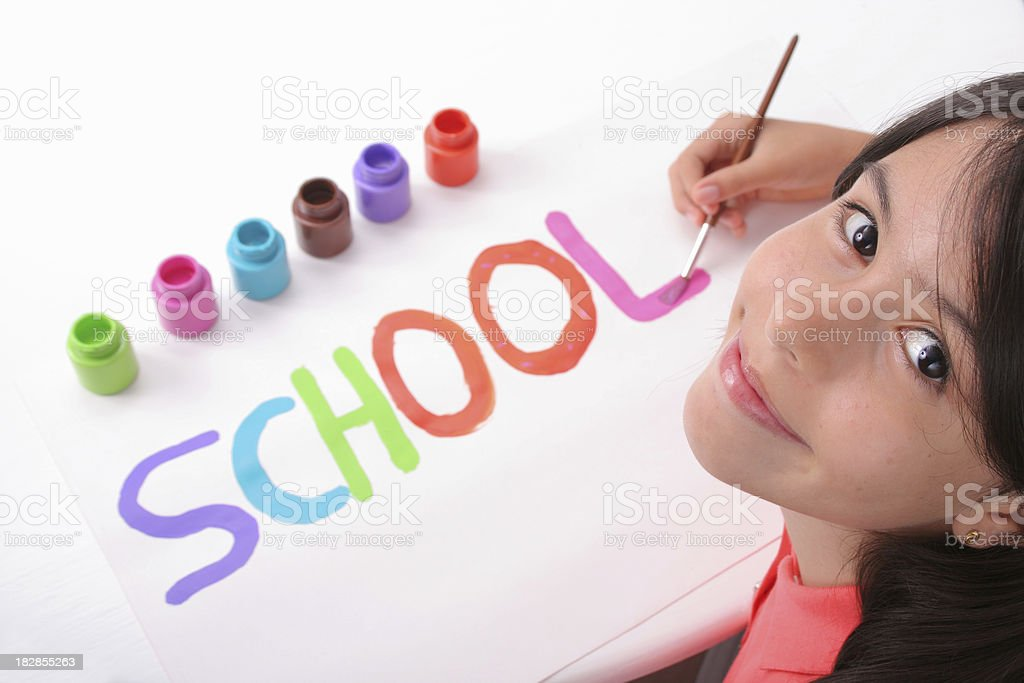 At The Art Class royalty-free stock photo