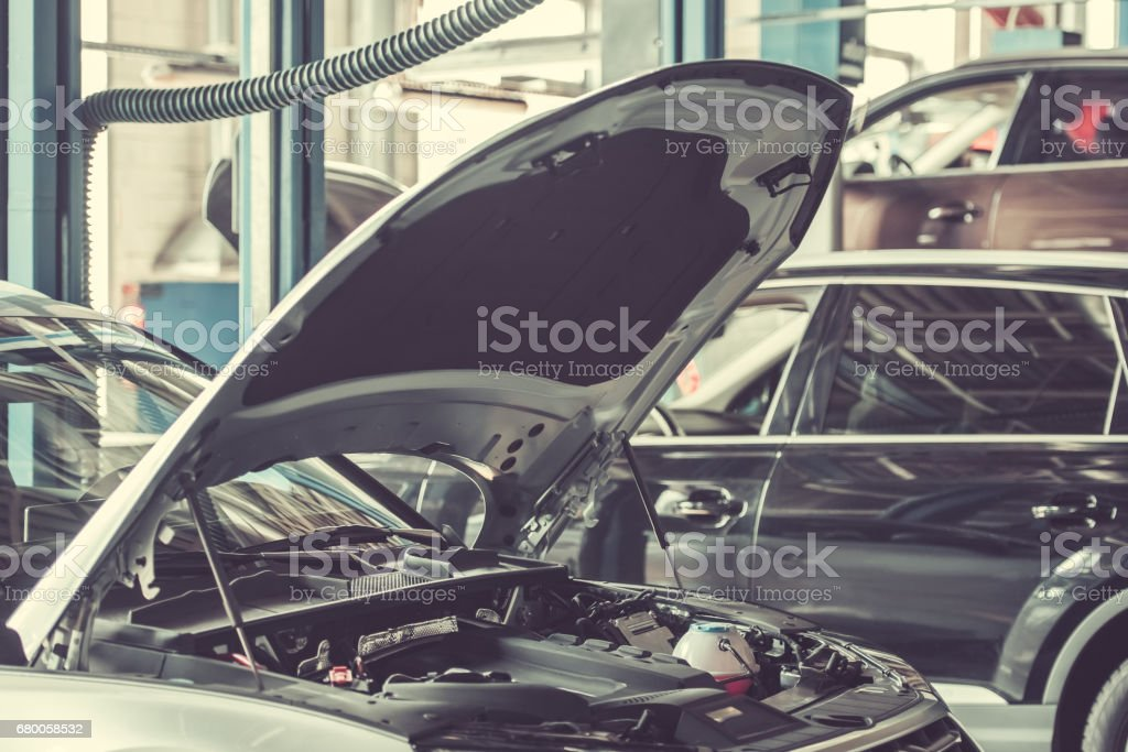 At the auto service stock photo