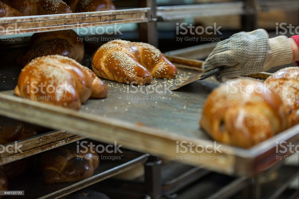 At the bakery stock photo
