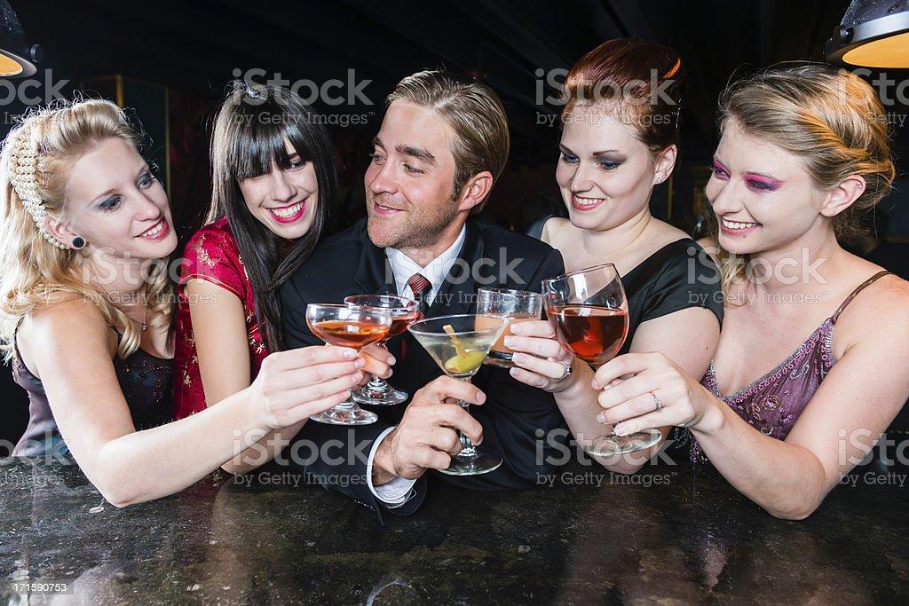 At the Bar stock photo