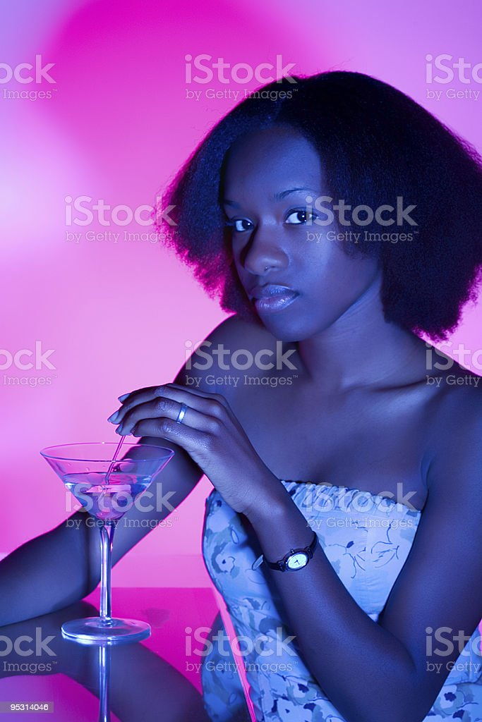 At the bar royalty-free stock photo