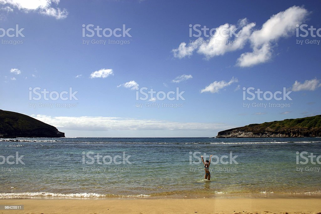 At the beach on a summers day royalty-free stock photo