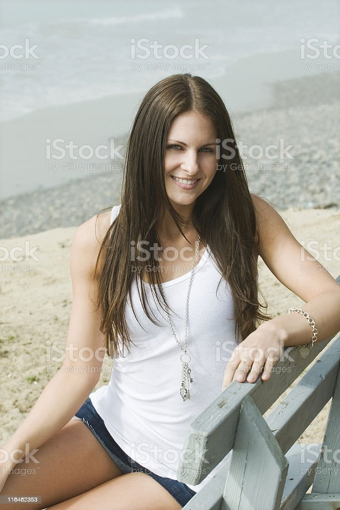 At the Beach stock photo