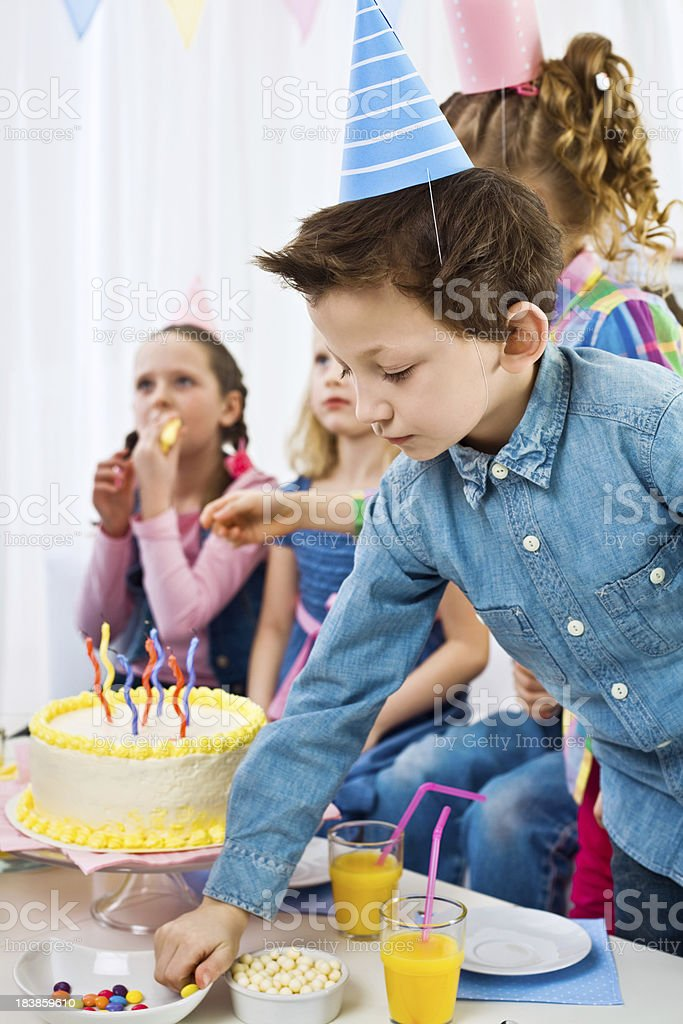 At the birthday party royalty-free stock photo