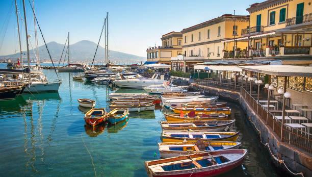At the Borgo Marinariin Naples on the Gulf of Naples Campania Italy stock photo