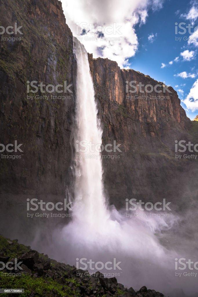 At the bottom of Maletsunyane Falls near Semonkong. - Royalty-free Africa Stock Photo